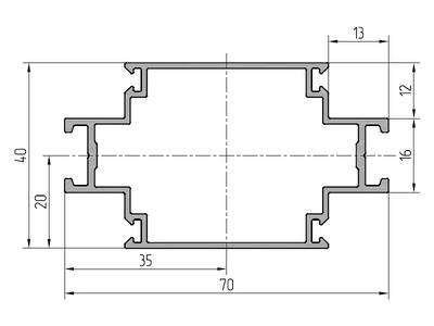 Профиль стойки ALUTECH-ALT111 (6.2 м) Изображение