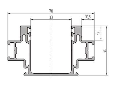 Профиль стойки ALUTECH-ALT111 (6.2 м, RAL9006) Изображение