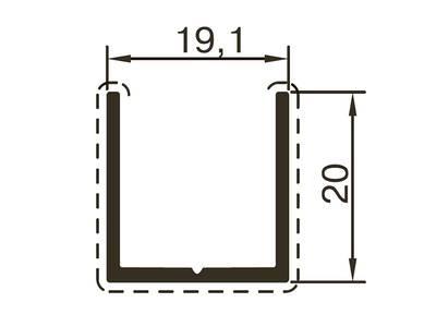 Профиль стойки ALUTECH-ALT118 (6 м, RAL9006) Изображение