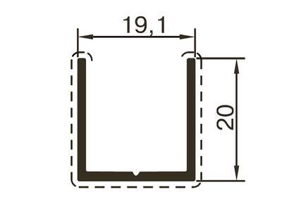 Профиль стойки ALUTECH-ALT118 (6 м, RAL9016) Изображение