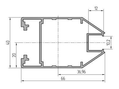 Профиль створки ALUTECH-ALT111 (6.2 м, RAL9006) Изображение