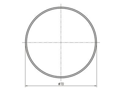 Профиль трубы ALUTECH-ALT111 (6.2 м, RAL9006) Изображение