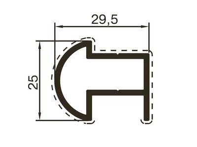 Профиль углового перехода ALUTECH-ALT118 (6 м, RAL9016) Изображение