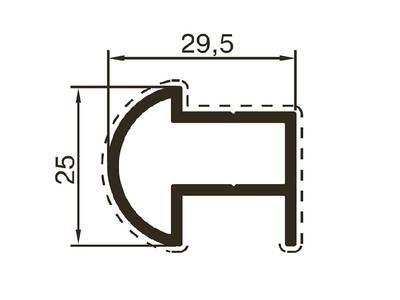 Профиль верхний ALUTECH-ALT118 (6 м, RAL9006) Изображение
