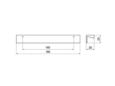 Профиль-ручка 160мм, нержавеющая сталь Изображение 4