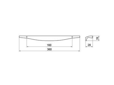 Профиль-ручка 160мм, нержавеющая сталь Изображение 5