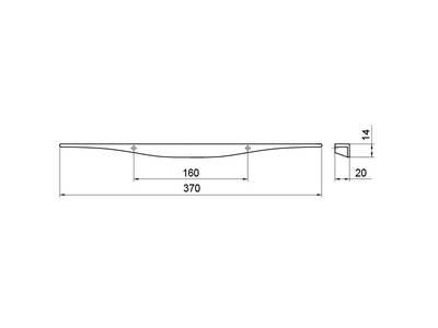 Профиль-ручка 160мм, хром Изображение 5