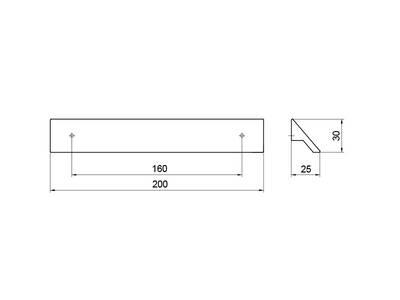 Профиль-ручка 160мм, хром Изображение 4
