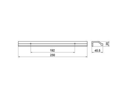 Профиль-ручка 192мм, нержавеющая сталь Изображение 5