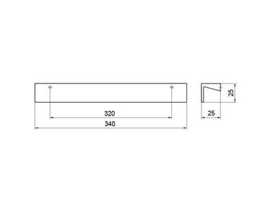 Профиль-ручка 320мм, хром Изображение 3