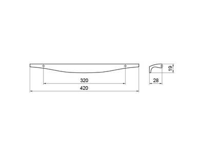 Профиль-ручка 320мм, титан Изображение 5