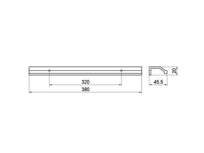 Профиль-ручка 320мм, нержавеющая сталь Изображение 5