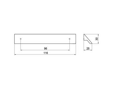 Профиль-ручка 96мм, хром Изображение 4