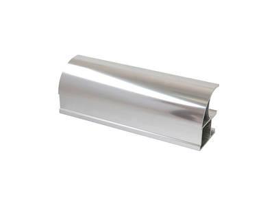 Профиль-ручка асимметричная, алюминий, хром полиров., 5400 мм Изображение