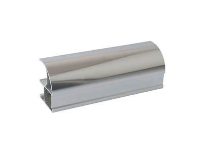 Профиль-ручка асимметричная, алюминий, хром полиров., 5400 мм Изображение 3