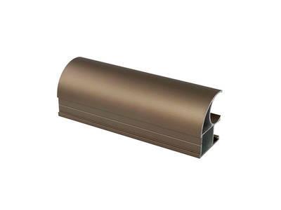 Профиль-ручка асимметричная, алюминий, L=5400 мм, шампань. Изображение