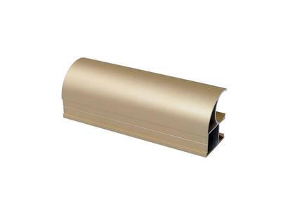 Профиль-ручка асимметричная, алюминий, L=5400 мм, золото. Изображение