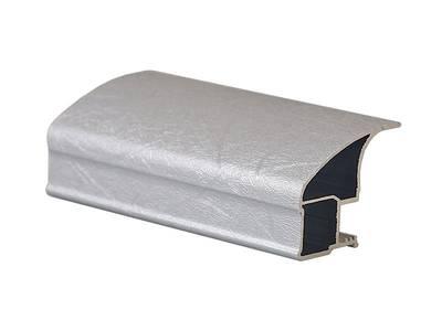 Профиль-ручка асимметричная широкая, FIRMAX, алюминий в ПВХ, L=5400 мм, шелк серебо. Изображение