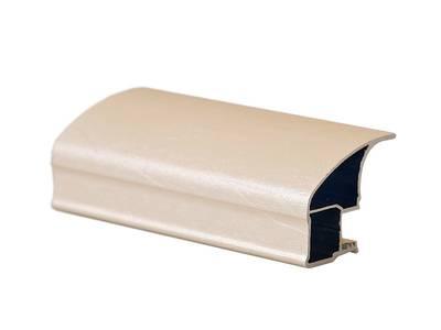 Профиль-ручка асимметричная широкая, FIRMAX, алюминий в ПВХ, L=5400 мм, шелк ваниль. Изображение