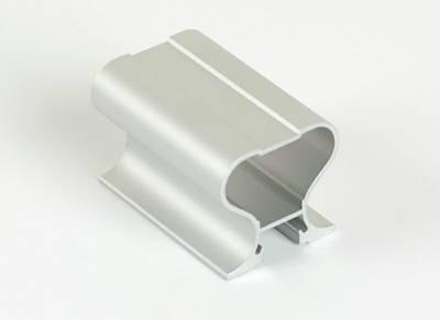 Профиль-ручка симметричная, алюминий, L=5400 мм, серебро. Изображение