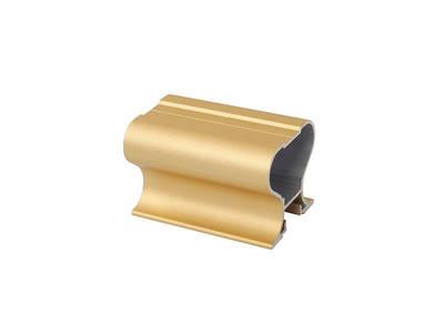 Профиль-ручка симметричная, алюминий, L=5400 мм, золото. Изображение