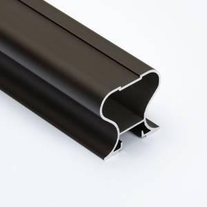 Профиль-ручка симметричная, алюминий, L=4800 мм, бронза. Изображение