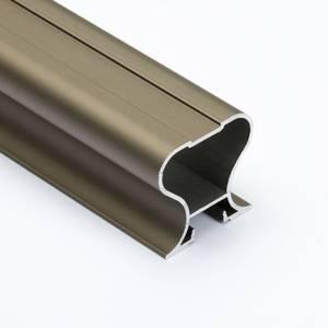 Профиль-ручка симметричная, алюминий, L=4800 мм, шампань. Изображение
