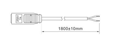 Провод с коннектором для 1 светильника POLUS, 2.0х0.5 мм, 1.8м Изображение 2