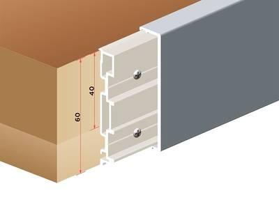 Торцевая накладка для столешницы SCILM [основа] (Н=60 мм, L=4100 мм, алюминий) Изображение 3