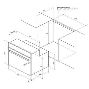 Электрический духовой шкаф Kuppersberg RC 699 ANX, антрацит Изображение 5