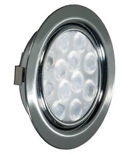 REPLIS-1 LED светильник врезной круглый, хром, 12V, нейтральный белый 5000K, 220Lm, 3W Изображение