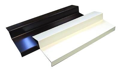 Алюминиевые отливы балконные BAUSET (B=135 мм, белый RAL9016) [РАСПИЛ В РАЗМЕР] Изображение