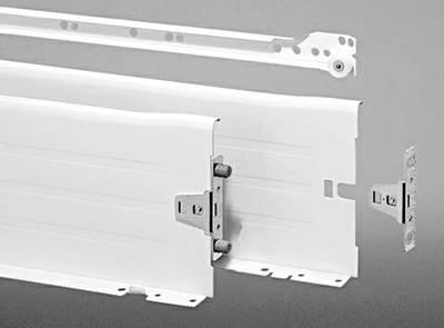Комплект боковин на роликовых направляющих для выдвижного ящика FGV (H=150 мм, L=450 мм, белый) Изображение