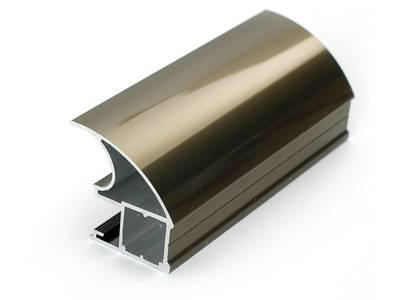 Профиль-ручка асимметричная широкая, алюминий, полиров.шампа, L=5400 мм FIRMAX Изображение
