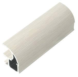 FIRMAX Профиль-ручка асимм.,алюмин. в ПВХ, дуб дымчатый с тисн., L=5400 мм Изображение