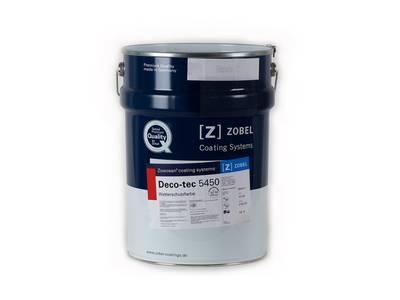 Краска для дерева ZOBEL Deco-tec 5450C бесцветная, шелковисто-матовая, 18 л Изображение