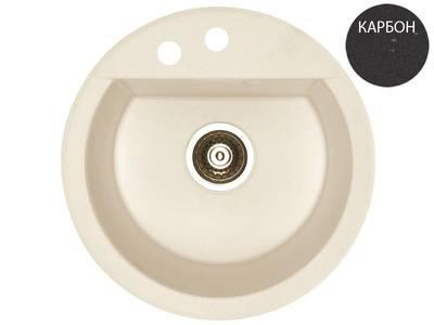 Кухонная мойка Alveus Cubo 10 (d=468 мм, algranit, карбон) [+сифон] Изображение