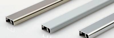 Плинтус для столешницы, прямоугольный, алюминий матовый 11x25.8мм L=4м FIRMAX Изображение