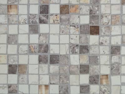 Бортик пристеночный треугольный ALPHALUX, 30*25 мм, L=4.1м, мозаика крем,алюминий Изображение