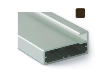Профиль 45/9 янтарно-коричневый, 5800 мм для рамочных фасадов Изображение