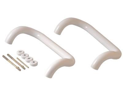 Изогнутая ручка скоба дверная Elementis (D=32 мм, 300 мм, белый) [РД-100.300] Изображение