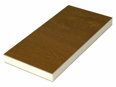 Сэндвич панель матовая Bauset TPL (3000x1300x24 мм, 1.0x1.0 мм, 2-стрн., HPL, золотой дуб [Renolit 2178-001]) Изображение