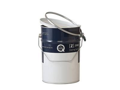 Тара металлическая для водных материалов (банка,крышка,зажим), 5л Изображение