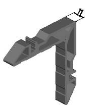 Угловая закладная, 11мм (W62) Изображение