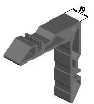Угловая закладная, 19мм (W62) Изображение