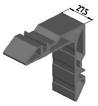 Угловая закладная, 27,5мм (W62) Изображение