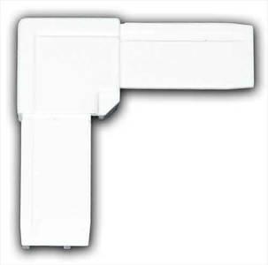 Уголок ABS для профиля москитной сетки BAUSET (МС-СТАНДАРТ, белый) Изображение