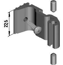 Закладная крепления импоста, 22,6мм (W62) Изображение