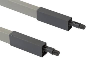 Рейлинги 400мм квадратные Firmax Newline, серый Изображение 2