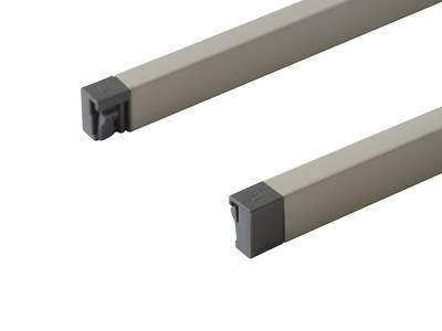 Рейлинги 400мм квадратные Firmax Newline, серый Изображение 3
